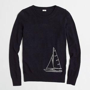 J. Crew- Intarsia Sailboat Sweater